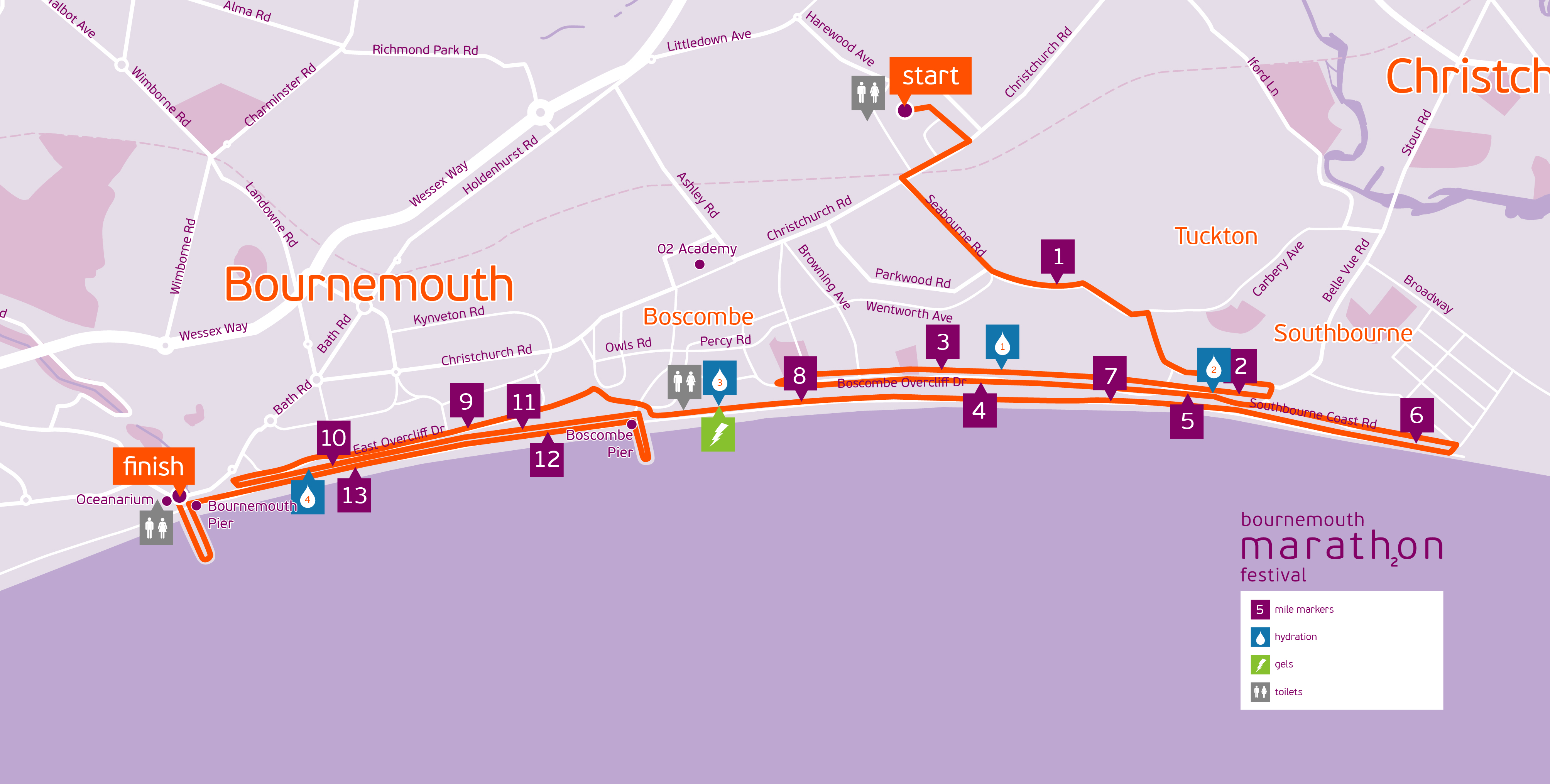 Bournemouth Half Marathon Route